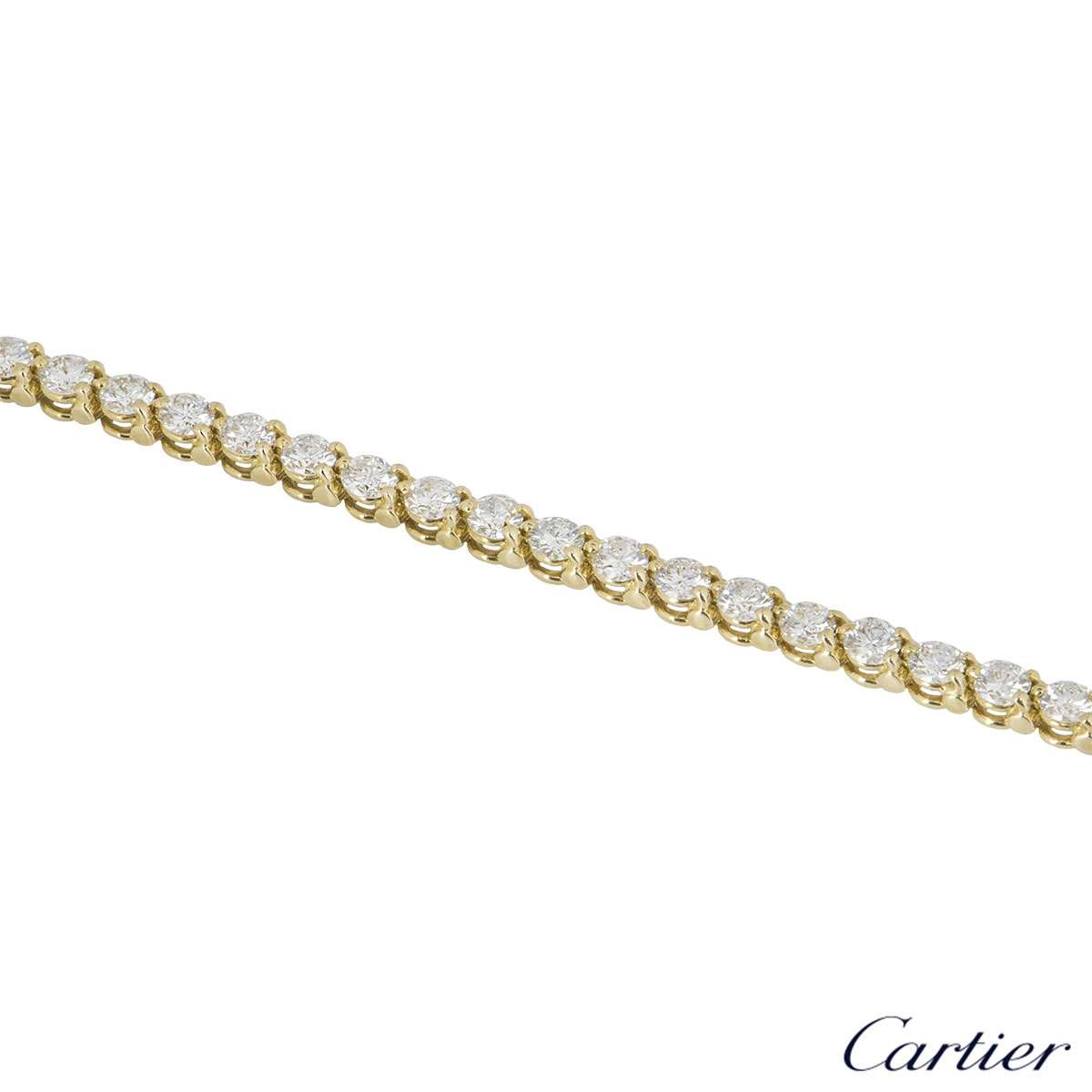 Cartier Yellow Gold Diamond Line Bracelet